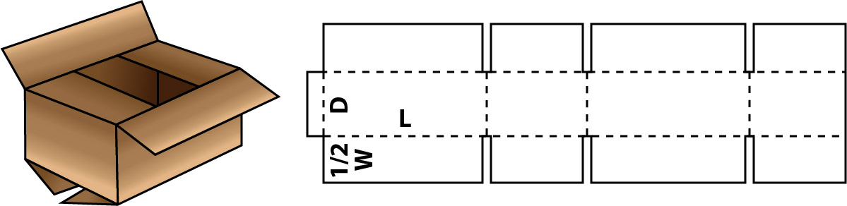 regular slotted corrugate